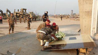 """صورة تخليداً للذكرى… قائد الجيش يدشّن نصب """"وفاء لبيروت"""" (صور)"""