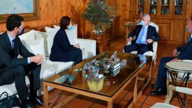 صورة فرنجيه التقى السفيرة الفرنسية وبحثا في الاوضاع العامة