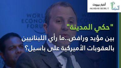 صورة بين مؤيد ورافض.. ما رأي اللبنانيين بالعقوبات الأميركية على باسيل؟