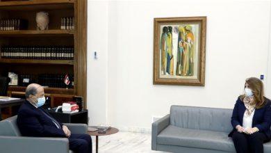 صورة عون بحث مع نجم في ضرورة الإسراع في التدقيق الجنائي المالي