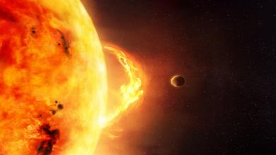 """صورة عاصفة شمسية قادمة إلينا بسرعة هائلة.. و""""خيوط مغناطيسية ثورانية"""" قد تصطدم بالأرض"""