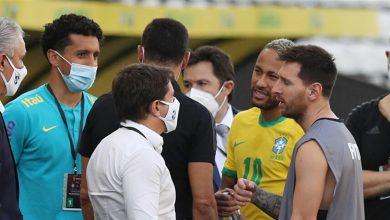 صورة ميسي غاضب بسبب مباراة الأرجنتين والبرازيل.. ماذا قال لنيمار؟